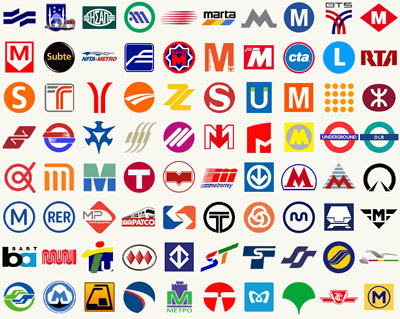 visual culture in metro logo design