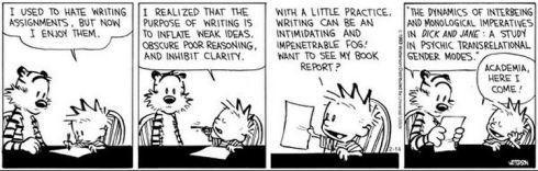 Calvin Enjoys Writing